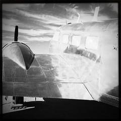 Hipstamatic Pima Air Museum (marzipan bunny) Tags: arizona bw art museum project force tucson air jets airplanes pima artists boneyard