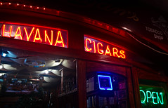 Havana Cigars... in Playa del Carmen Mexico [Explore #165 Feb 13 2012] (Maria_Globetrotter) Tags: sign night mexico neon december havana yucatan playadelcarmen explore cigars marias 2011 havanacigars