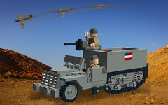 M3 Halftrack and P51 (Florida Shoooter) Tags: lego ww2 ldd m3halftrack
