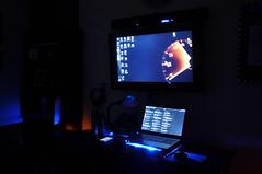 Simple Setup (JonJCP) Tags: blue computer dark desk samsung 330 acer series setup hdtv 5560sb256