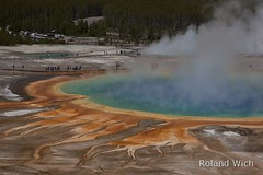 Grand Prismatic Spring (Rolandito.) Tags: park usa america us spring united grand national yellowstone states wyoming np prismatic
