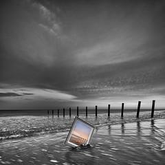Frame in frame V4 (James Yu Photography) Tags: longexposure white black photography james seascapes australia adelaide sa southaustralia australiabeach
