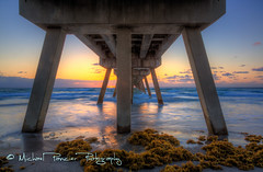 Sunrise Under the Pier (Michael Pancier Photography) Tags: sea sun seascape sunrise coast pier sand surf waves florida playa deerfieldbeach atlanticocean eastersunday atlanticcoast commercialphotography naturephotographer michaelpancierphotography impressedbeauty landscapephotographer eastersunrise fineartphotographer michaelapancier deerfieldbeachpier easter2012