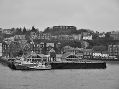 Oban Bay (Sunset Dan) Tags: uk sea sky water ferry scotland boat ship harbour accident transport bow service oban loch calmac loti craignure obancraignure mvisleofmull bowdoor mvherbrideanisles scottishferry bowdoorissue mvhebs