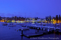 Night Lights at Manly (Dawn Woodhouse) Tags: beach night lights manly sydney australia bluehour wow1