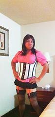 What do U guys think?? (Veronicaj410) Tags: pink tv legs cd crossdressing sissy corset miniskirt crossdresser transsexual girlyboy trannies thighhigh sheboy girlyguy femboy femguy