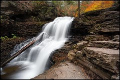 Shawnee Fall's (Marvin Foran Photography) Tags: statepark longexposure travel vacation fallleaves fall nature flow waterfall rocks fallcolor falls rickettsglenstatepark pennsylvaniastateparks shawneefalls pennsylvinia canon5dmkii
