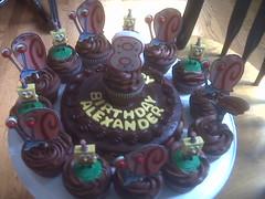 SpongeBob cupcakes by Cathy P