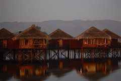 Hotel Reflections (The Spirit of the World) Tags: lake reflections hotel asia burma myanmar inlelake soe stilts mygearandme ringexcellence rememberthatmomentlevel1 rememberthatmomentlevel2 rememberthatmomentlevel3