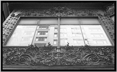 Reflection in B/W ~ Carson, Pirie, Scott and Company Building ~ Chicago Il (Onasill ~ Bill Badzo) Tags: county street old school usa chicago building st retail architecture facade carson scott one 1 louis us store site iron place state loop district daniel south cook style landmark s tourist historic company architect national american co register sullivan root carsons department registry burnham attraction preservation wrought pirie nrhp holabird 1001nighta 1001nightsmagiccity