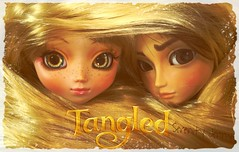 Tangled (serenity jenny) Tags: green eye love fairytale cat movie poster logo fun toy toys cool doll dolls cosplay ooak disney chips full planning pullip pascal custom rider rapunzel jun flynn tangled repaint taeyang panpin raiponce