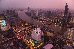 Bangkok Glory (Alexandre Moreau | Photography) Tags: pink roof bar night thailand glow top bangkok skylines