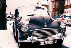 Winter (VERY GIORGIOUS) Tags: winter snow film car canon lomo lomography cross ae1 slide tungsten processed