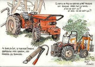 Tracteur et prétailleuse