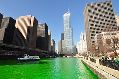The Greening of the Chicago River... (Seth Oliver Photographic Art) Tags: chicago illinois nikon midwest iso400 cityscapes trumptower chicagoriver pinoy stpatricksday chicagoskyline urbanscapes secondcity windycity chicagoist d90 handheldshot cityofbigshoulders aperturef56 manualmodeexposure setholiver1 greeningofthechicagoriver circularpolarizers 1024mmtamronuwalens 1500secondexposure soocexceptfortrim