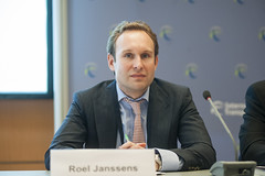 Roel Janssens on the panel at Best Practice at Border Crossings side event