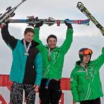 Miele Cup FIS Slalom, Grouse Mountain 2012 - (J1 Podium) 1 LLEWELLYN Austin (WMSC); 2 BOIT Colin (USA); 3 RENZONI Charlie (WMSC) PHOTO CREDIT: Robert Kwong, rkcg@uniserve.com
