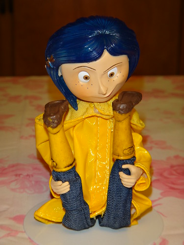 Neca Coraline Raincoat Bendy 7 Doll Sitting With Legs Up A Photo On Flickriver