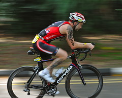 Big ink (jeremyhughes) Tags: motion tattoo speed ink movement nikon singapore ironman transition panning triathlon aero eastcoast aviva eastcoastpark p3 cervelo aerodynamic 703 halfironman tribike d700 cervelop3