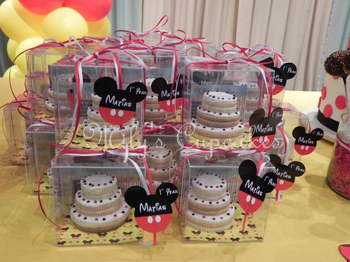 Cookies cake en cajitas de acetato con base personalizada
