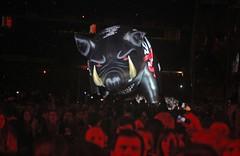 The pig is chasing us !! Run like hell !! (alestaleiro) Tags: show bw music art animals rock pig concert buenosaires tour artistic live pinkfloyd silueta música aovivo thewall silouhette riverplate rogerwaters porco chancho alestaleiro