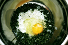 Ingredients (TorenInSpace) Tags: food cooking dinner 35mm canon close egg journal cook ingredients f2 thyme t3i bulgar 600d toreninspace