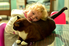 Best Friends (Jeff Clow) Tags: family friends girl comfortable kids cat children dallas texas together resting comfort bestfriends twoyearold ddno