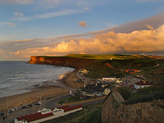 A view over Saltburn. (paul downing) Tags: sunset beach canon spring northsea saltburn pdp coastaluk pd1001 sx10is pauldowning