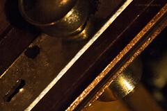 Passage (WBeskow) Tags: door wood brazil brown house home yellow night dark handle mirror golden nikon key lock secret d70s protection curiousity bedrrom wbeskow