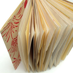 Handmade Journal (diana fayt) Tags: flowers red yellow oneofakind photostream 2012 handmadejournal blockprinted dianafayt repurposedpaper