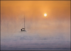Morning Tide (adrians_art) Tags: people mist water weather fog sunrise boats bravo silhouettes yachts riverthames