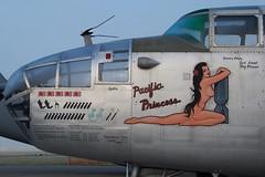 North American B-25J Mitchell, Pacific Princess, Nose Art, Chino (Peter Cook UK) Tags: b 25 noseart b25 pacificprincess b25mitchell chinoairshow