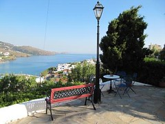 View from the Blue Dolphin Pension (OMILO Greek Language and Culture) Tags: island andros courses greeklanguage omilo