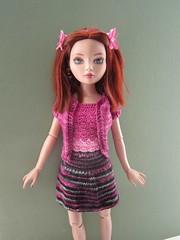 Eve's new outfit (tillietogs) Tags: crochet knitted purplerain tonner ellowynewilde wildeimagination