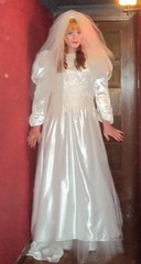 Tranny bride (Felicia Colette) Tags: veil cd transvestite weddingdress crossdresser bridalgown tgurl tbride