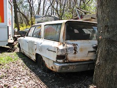 '64 RAMBLER 220 WAGON (richie 59) Tags: auto usa cars abandoned car america outside us rust automobile unitedstates antiquecar rusty vehicles faded chrome rusted tailgate vehicle newyorkstate amc rambler oldcar oldcars oldvehicles automobiles taillights rustycar stationwagon backend wornout nystate dutchesscounty rustyoldcar americancars hudsonvalley junked whitecar whitecars americancar motorvehicles fadedpaint junkcar motorvehicle 4door americanmotors uscar uscars stationwagons midhudsonvalley 2013 dutchesscountyny fourdoor oldrustycar oldstationwagon rambleramerican 1960scars ramblerstationwagon 1960scar 2010s 1964rambler richie59 april2013 abandondcar rambleramerican220 rustyrambler americanstationwagon 1964rambleramerican april272013 townofwappingersny townofwappingers 1964rambleramerican220