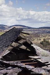 Ruined Rooftop (DMeadows) Tags: roof abandoned rooftop clouds landscape scotland ruins industrial rooftops ruin hills tiles derelict revolutions ruined ironworks rafters ayrshire dalmellington dunaskin davidmeadows dmeadows davidameadows dameadows