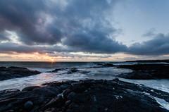 Sunset (orkell) Tags: sunset sun clouds iceland rocks waves cloudy hafnarfjrur sigma1020 leefilter hvaleyri nikond7000