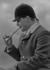 The Horn (partridge10) Tags: blackwhite hunting horn countrysport middletonhunt ruralpursuit