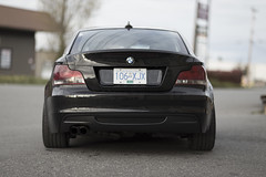 rear (wescuddles) Tags: black car rear bmw exhaust n54 e82 135i