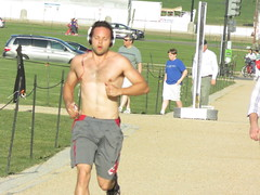 IMG_0747 (FOTOSinDC) Tags: shirtless hairy man muscles back arms arm legs candid chest leg handsome running sweaty sweat guns jogging runner jogger