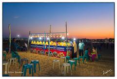 Vanakkam (Greetings) Chennai (msankar4) Tags: summer food india beach marina chat indianocean boardwalk snacks bluehour marinabeach chennai streetfood tamil tamilnadu vendors