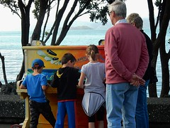Group Concerto (mikecogh) Tags: music public kids children waterfront painted piano together wellington coloured foreshore