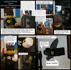 League of Heroes: Ascent   Episode 3: Darkest Before Dawn - Part 3 (jgg3210) Tags: new 3 television closet skull dawn costume alley comic apartment lego gothic before part ii comicbook superhero radiator ascent loh minifigure moc darkest leagueofheroes brickton