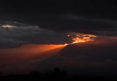 Sunset Fire (ArneKaiser) Tags: sunset sky panorama cloud weather clouds landscape hawaii maui crepuscularrays godrays mauicollection