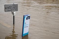 Paris Plage (dprezat) Tags: paris seine river nikon flooding waterfront flood berge pont idf inondation overflow fleuve d800 crue rive inundation laseine nikond800
