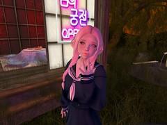 p a l e (gunesyoruk) Tags: portrait game cute japan japanese avatar sl secondlife virtual kawaii videogame schoolgirl teahouse secondlifeavatar secondlifestyle girlsecondlifeavatar secondlfiestyle