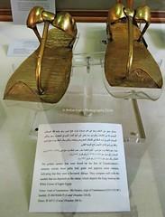 Tutankhamun's Gold Sandals [EXPLORE] (Amberinsea Photography) Tags: gold egypt explore treasures tutankhamen tutankhamun cairomuseum explored treasuresofancientegypt amberinseaphotography