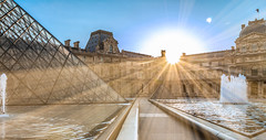 sunrise au louvre (picfromparis) Tags: paris france architecture sunrise jardin parisian parisien