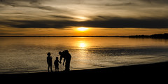 Holiday beauty (hjuengst) Tags: sunset panorama orange lake silhouette clouds landscape geotagged golden see sonnenuntergang wolken goldenhour goldenlight goldeneslicht